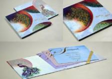 Exclusive Peacock Theme Padded Wedding Card Design PR 950