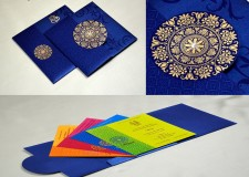 Designer Budget Wedding Card RB 1141 BLUE