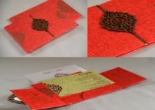 Gatefold Opening Padded Wedding Card Design RB 1442 RED