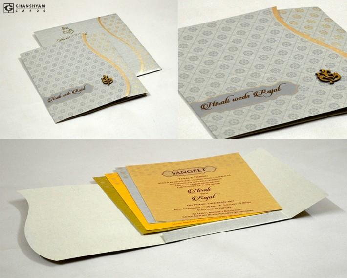 Budget Wedding Card Design RB 1636 Grey