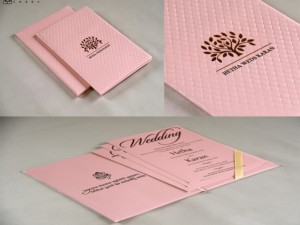 Tree Lasercut Wedding Card Design RB 1685 PINK