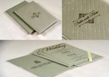 Elegant Wedding Card Design RB 1690 GREEN