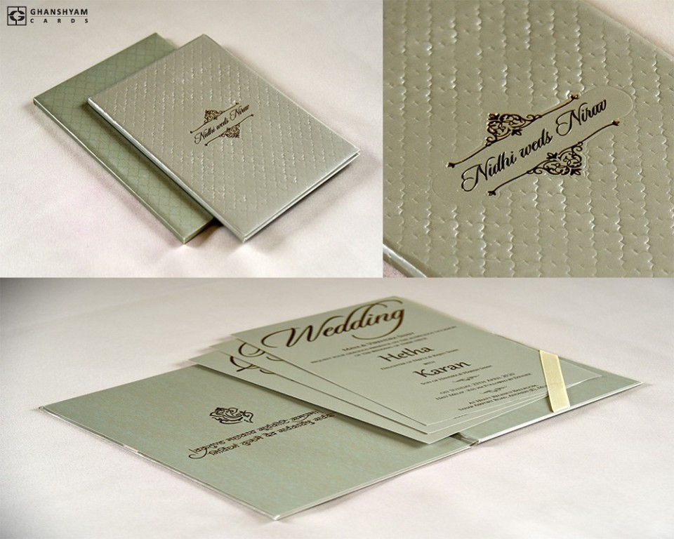 Elegant Wedding Card Design RB 1690 GREEN
