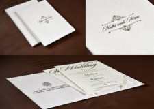 Elegant Wedding Card Design RB 1690 WHITE