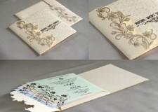 Budget Designer Wedding Card RB 1714 CREAM