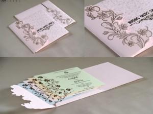 Budget Pastel Pink Designer Wedding Card RB 1714 PINK
