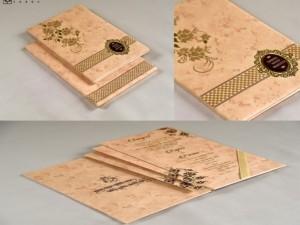 Padded Wedding Card Design RB 1746 CREAM