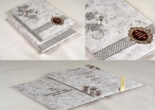 Padded Wedding Card Design RB 1746 GREY