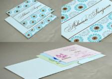 Pastel Blue Wedding Card RN 2505 BLUE