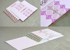 Pastel Pink Wedding Card RN 2507 PINK