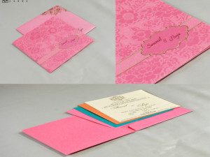 Budget Wedding Card Design RN 2523 PEACH
