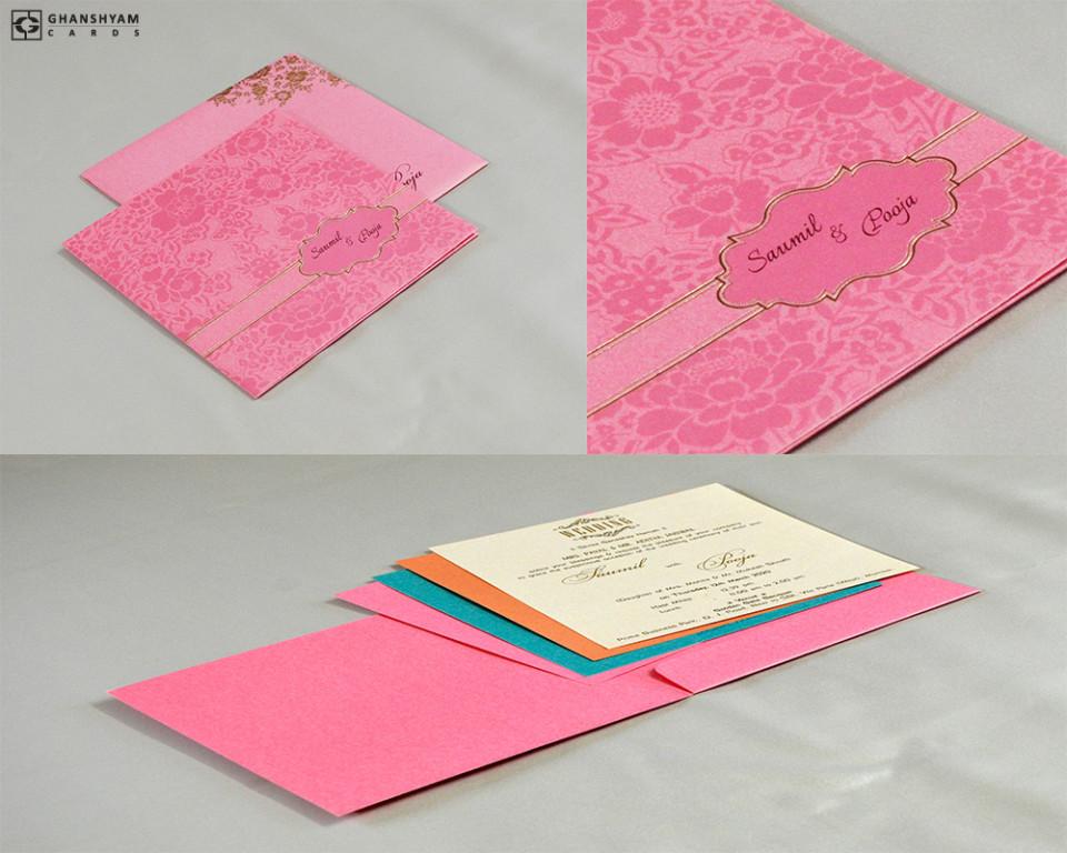 Budget Wedding Card Design RN 2523 PEACH