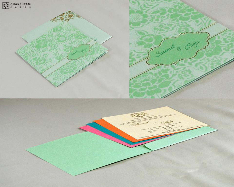 Budget Wedding Card Design RN 2523 PISTA