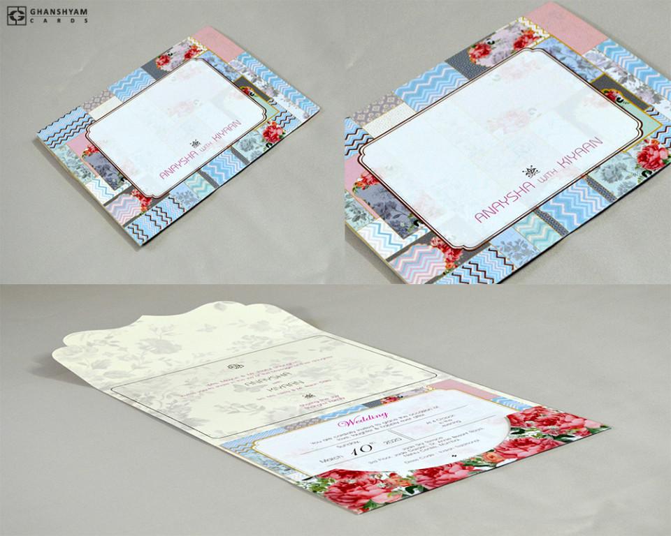 Floral Designer Wedding Card RN 2529