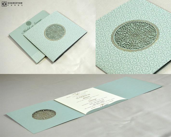 Laser Cut Wedding Card Design RN 2535 PISTA