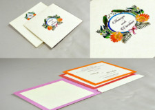 Parrot and Flower Theme Wedding Card RN 2539