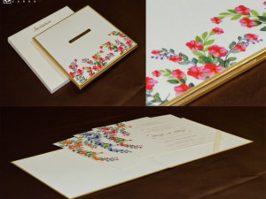Padded Floral Theme Wedding Card Design RN 2541