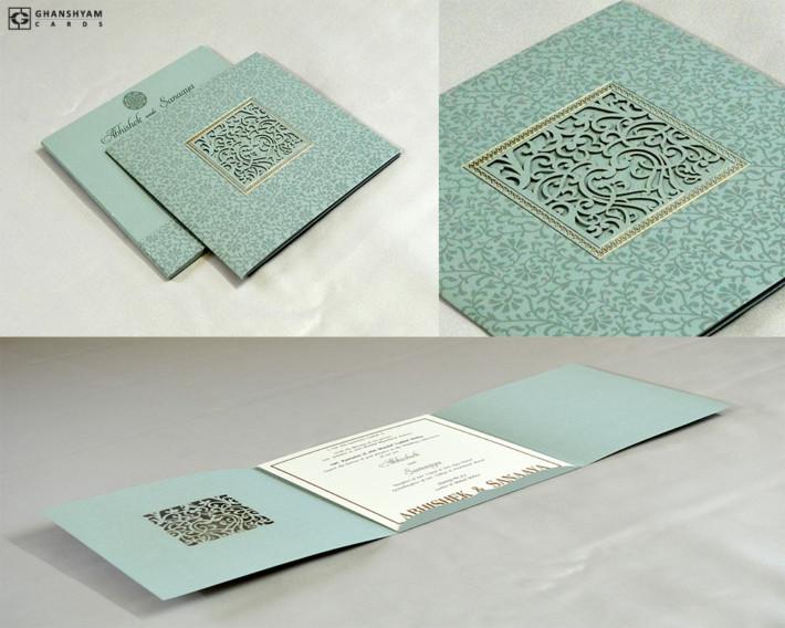 Laser Cut Wedding Card Design RN 2556 PISTA