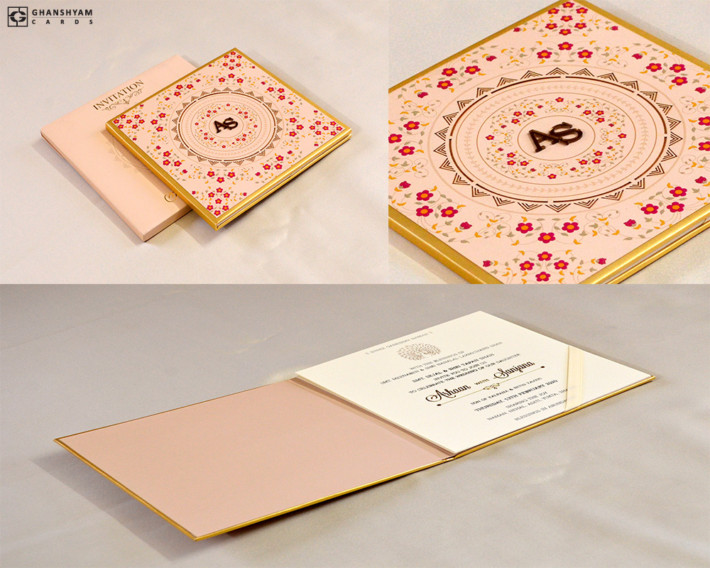 Padded Exclusive Wedding Card RN 2560