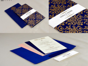 Designer Wedding Card RN 2573 BLUE