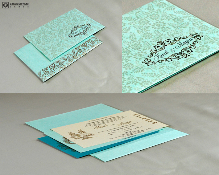 Designer Budget Wedding Card RN 2583 PISTA