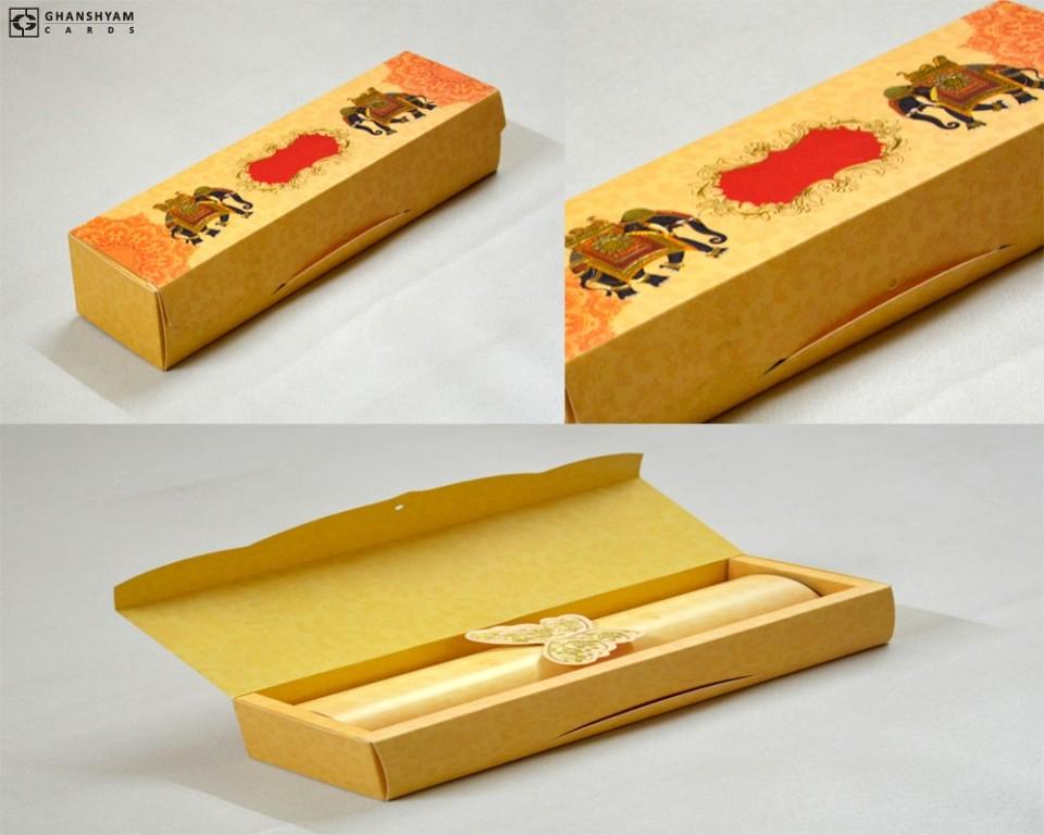 Elephant Theme Roll Invitation SC 149