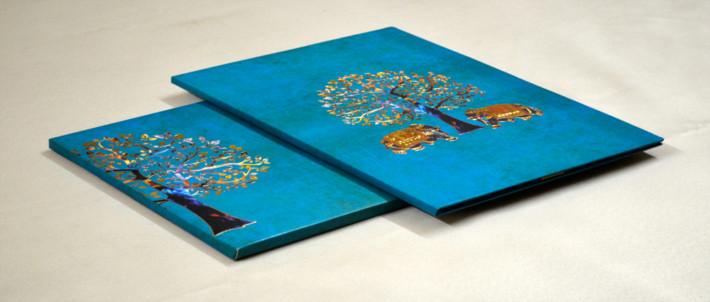 Royal Padded Wedding Cards