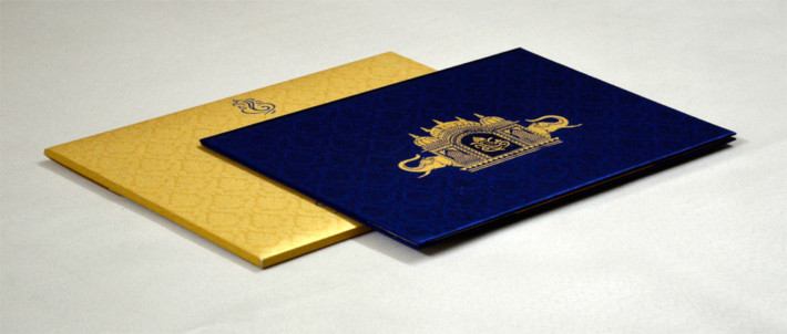 Satin Cloth Indian Wedding Cards and Invitations